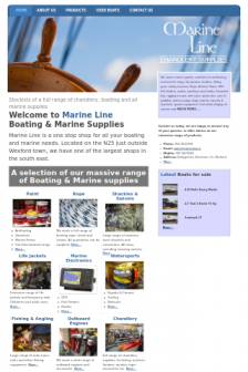 Mobile screenshot of marineline.ie