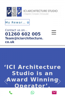 Mobile screenshot of www.ici-architecture.co.uk