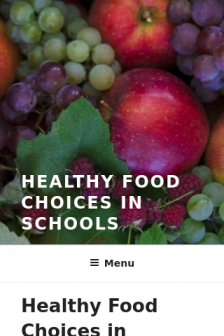 Mobile screenshot of healthy-food-choices-in-schools.extension.org