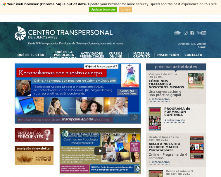 Screenshot of www.centrotranspersonal.com.ar
