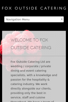 Mobile screenshot of foxoutsidecatering.co.uk