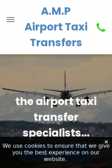 Mobile screenshot of www.amp-airport-taxis.co.uk