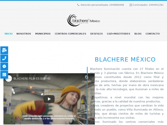 Tablet screenshot of blachere.com.mx
