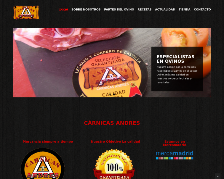 Screenshot of www.carnicas-andres.es
