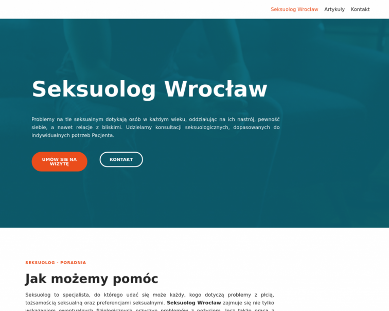 Screenshot of seksuolog-wroclaw.pl
