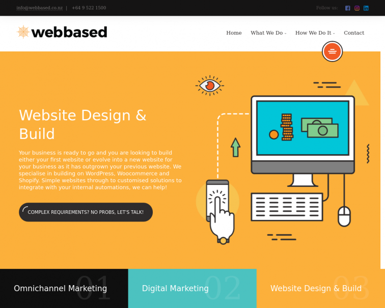 Screenshot of www.webbased.co.nz