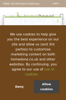 Mobile screenshot of www.homedone.co.uk