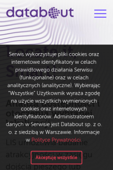 Mobile screenshot of databout.pl