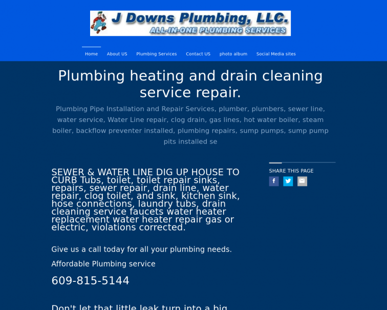 Screenshot of www.jdownsplumbingllc.org