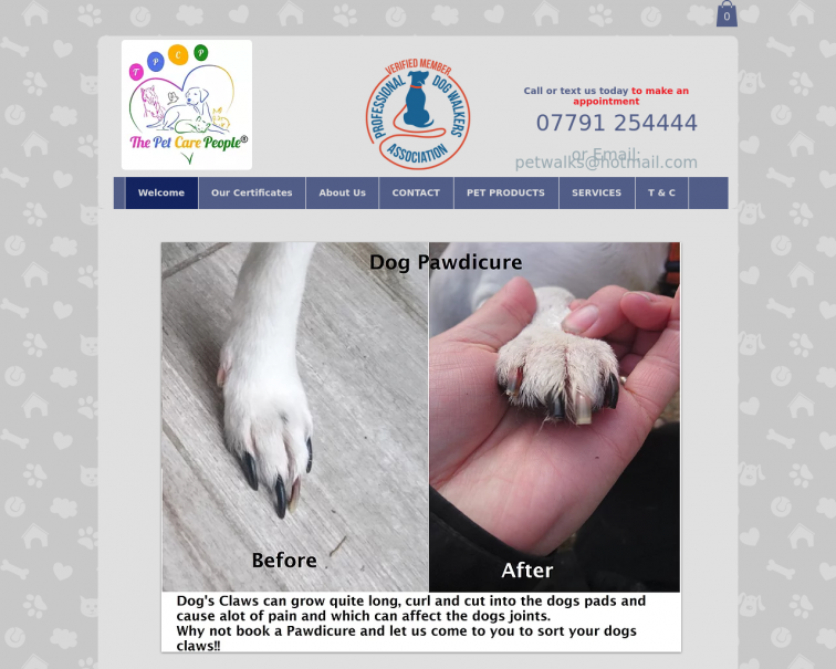 Screenshot of www.thepetcarepeople.co.uk