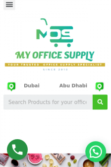 Mobile screenshot of myofficesupply.ae