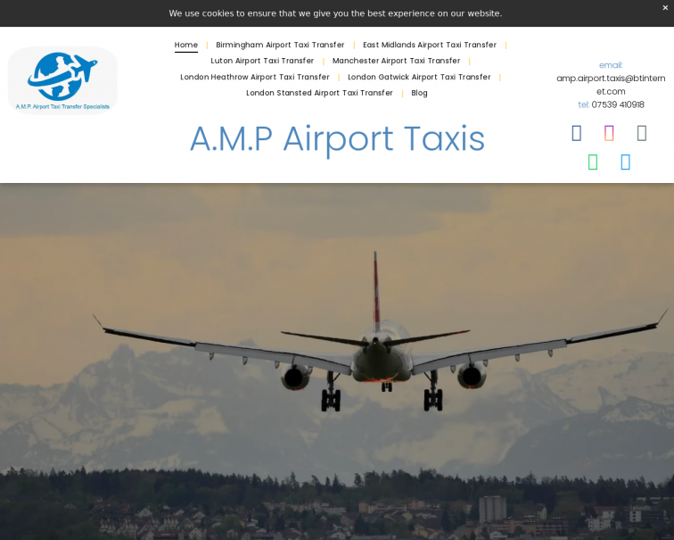 Screenshot of www.amp-airport-taxis.co.uk