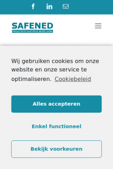 Mobile screenshot of www.safened.nl