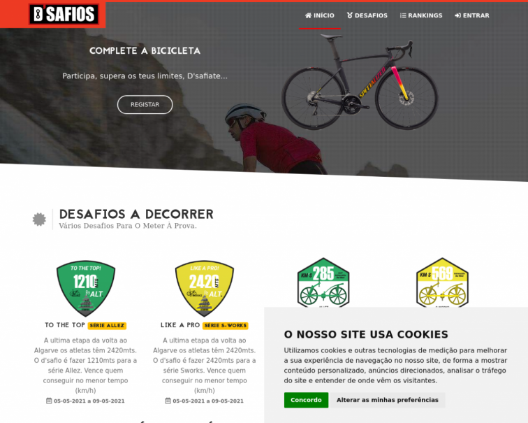 Screenshot of desafios.d-bike.pt