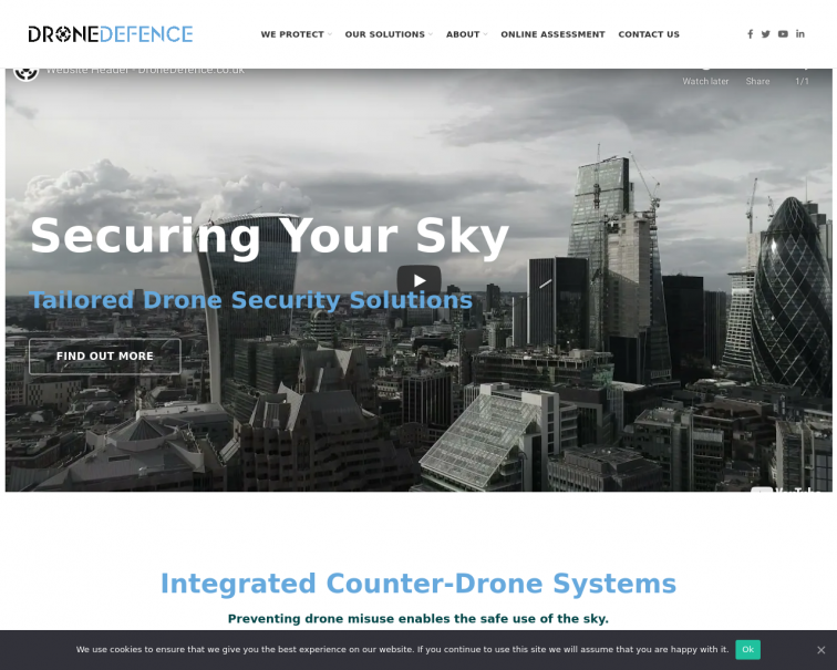 Screenshot of www.dronedefence.co.uk