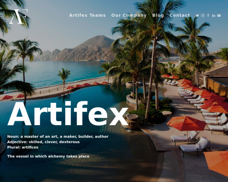Screenshot of artifex.team