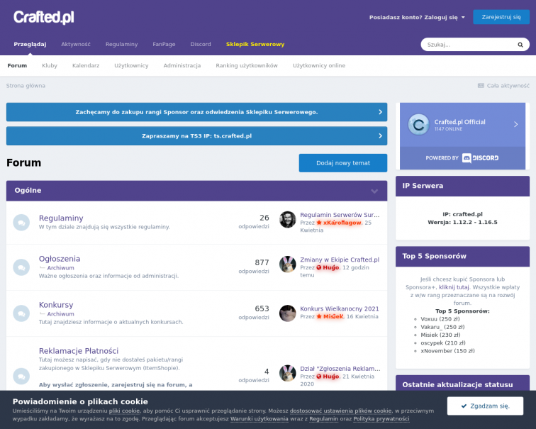 Screenshot of crafted.pl