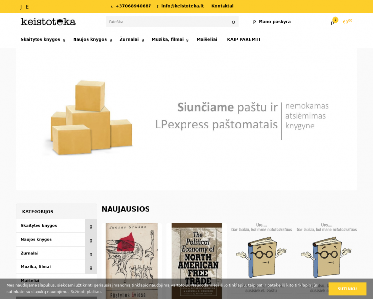 Screenshot of www.keistoteka.lt