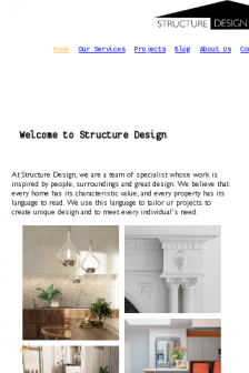 Mobile screenshot of structuredesign.co.uk