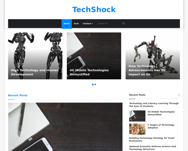 Screenshot of techshock.net