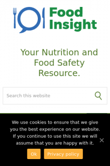 Mobile screenshot of foodinsight.org