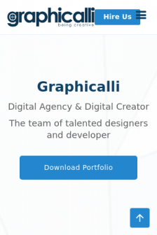 Mobile screenshot of www.graphicalli.agency