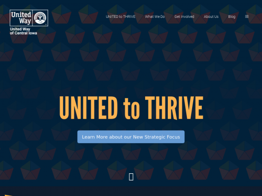 Tablet screenshot of www.unitedwaydm.org