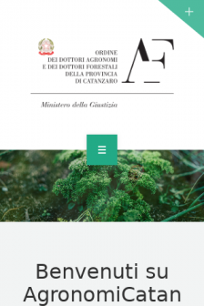 Mobile screenshot of agronomicatanzaro.it