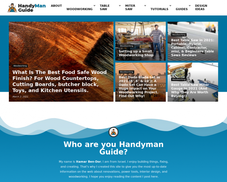 Screenshot of handyman.guide