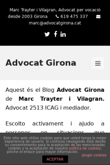 Mobile screenshot of www.advocatgirona.cat