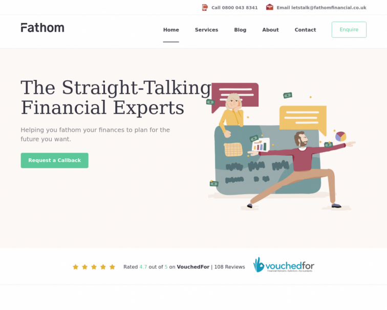 Screenshot of fathomfinancial.co.uk