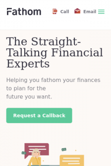 Mobile screenshot of fathomfinancial.co.uk