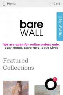 Mobile screenshot of www.barewall.co.uk