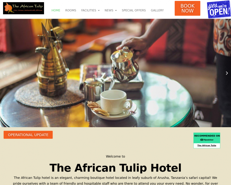 Screenshot of theafricantulip.co.tz