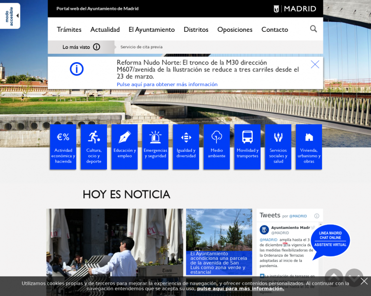 Screenshot of www.madrid.es