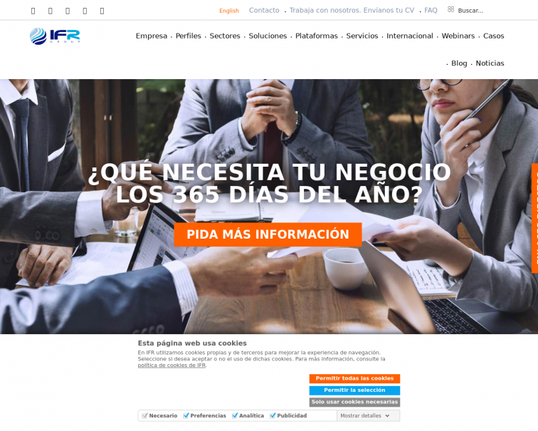 Screenshot of www.ifr.es