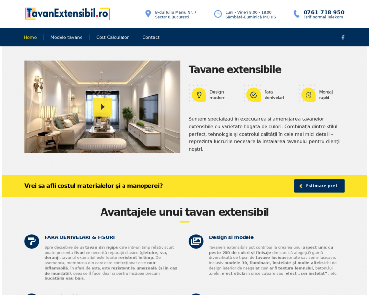 Screenshot of tavanextensibil.ro
