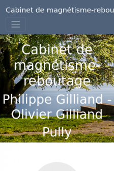 Mobile screenshot of www.gilliand-magnetiseur-rebouteux.ch