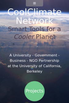 Mobile screenshot of coolclimate.org