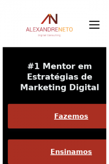 Mobile screenshot of www.alexandreneto.pt