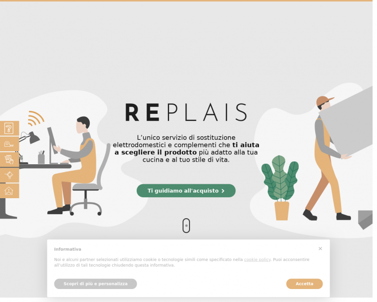 Screenshot of replais.it