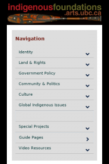 Mobile screenshot of indigenousfoundations.arts.ubc.ca