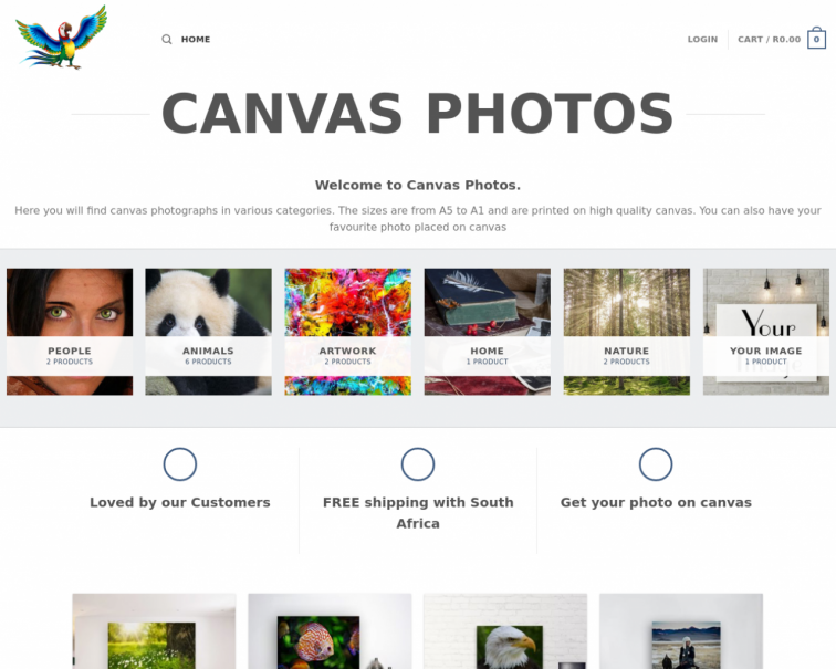 Screenshot of canvasphotos.co.za