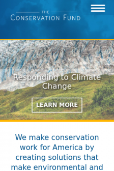 Mobile screenshot of www.conservationfund.org