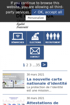 Mobile screenshot of www.interieur.gouv.fr