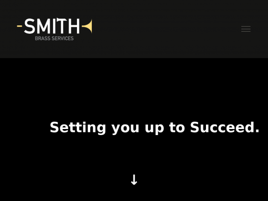 Tablet screenshot of www.smithbrass.services