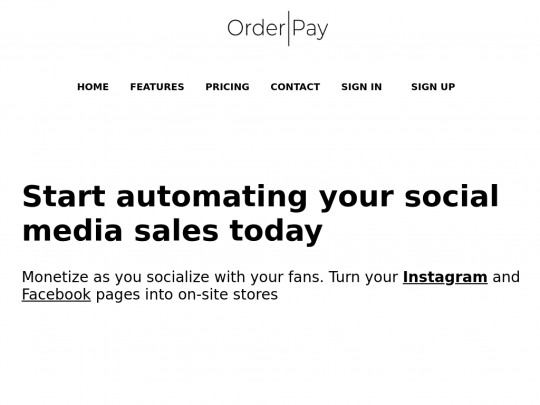Tablet screenshot of www.orderpay.shop