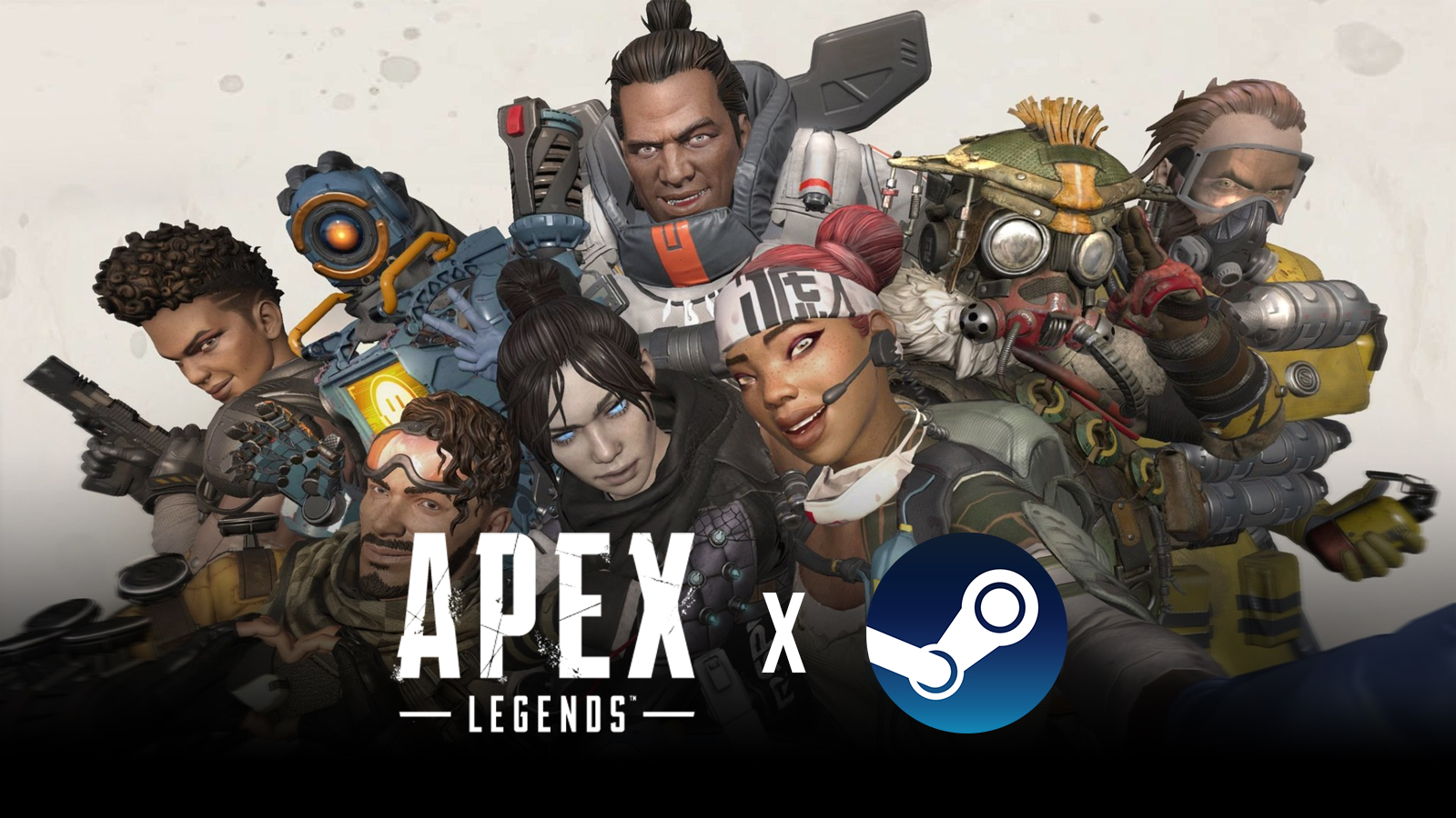 All Apex Legends launch characters with Steam logo