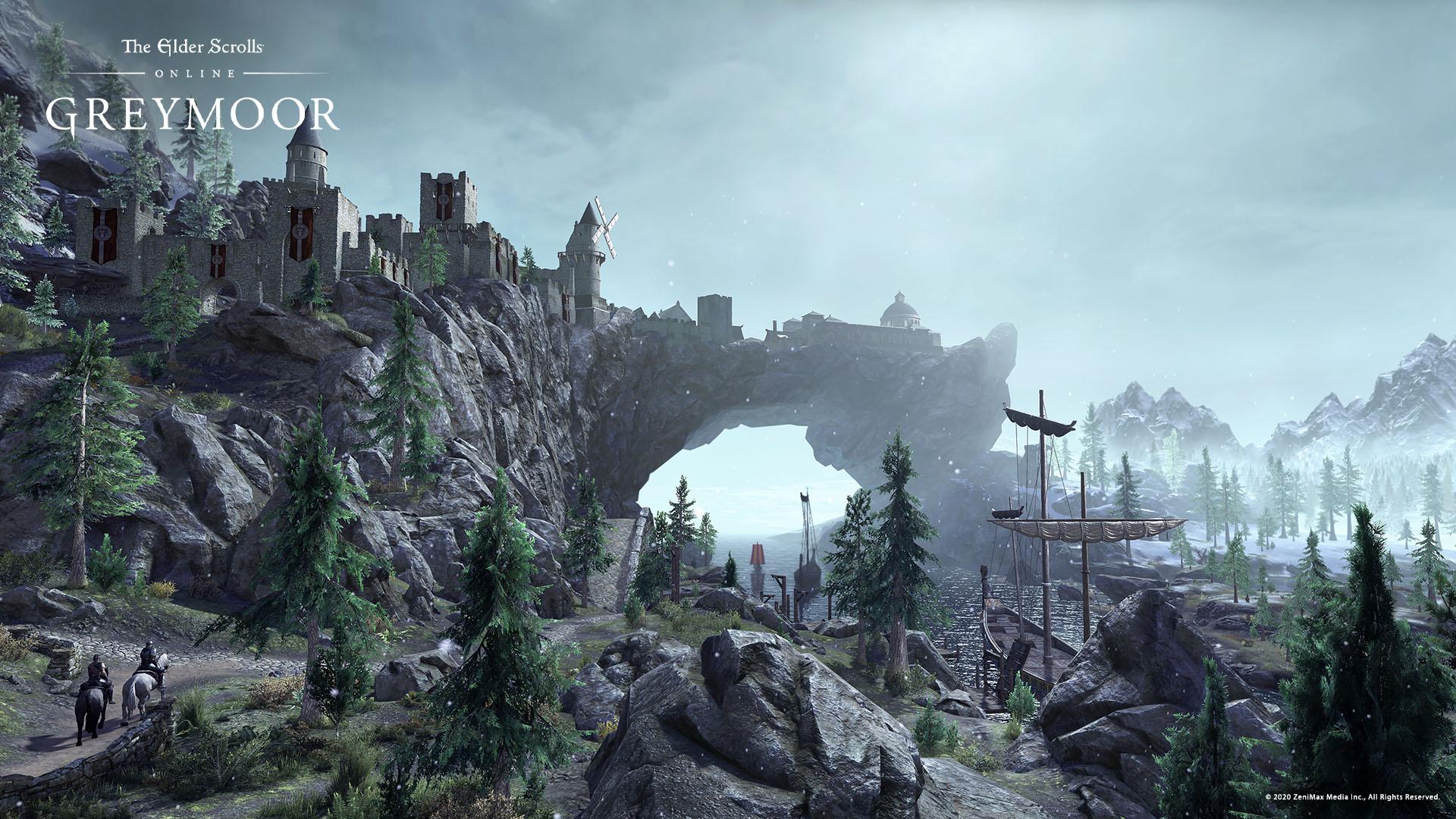 The city of Solitude in TESO: The Dark Heart of Skyrim