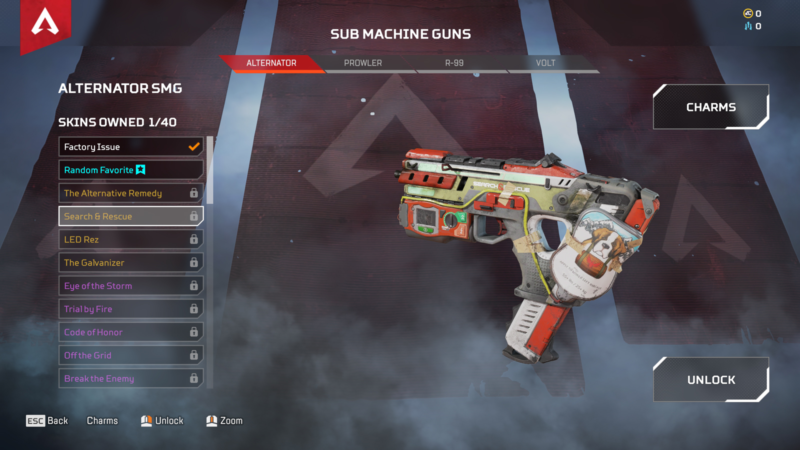 Alternator in the Apex legends loadout